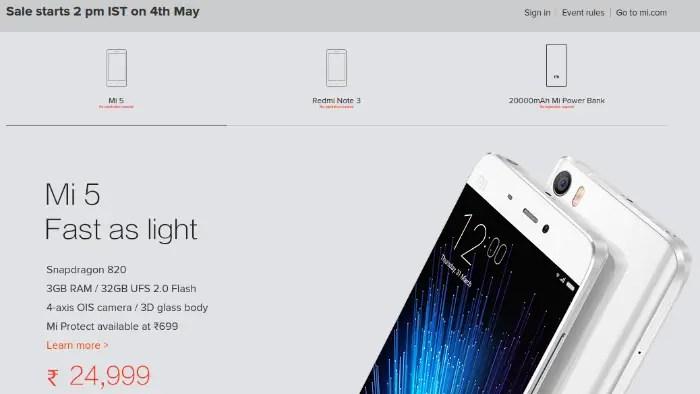 xiaomi-mi-5-mi-power-bank-redmi-note-3-open-sale-may-4-india-featured