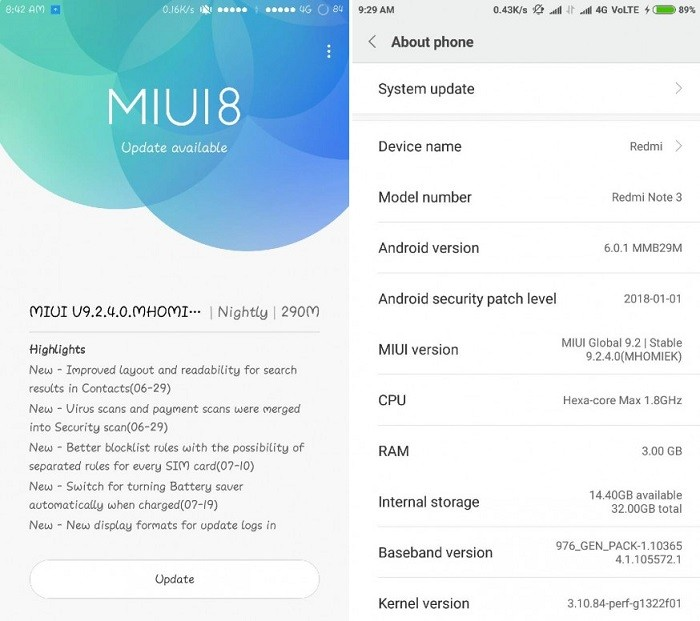 how to get updates on a xiaomi global rom