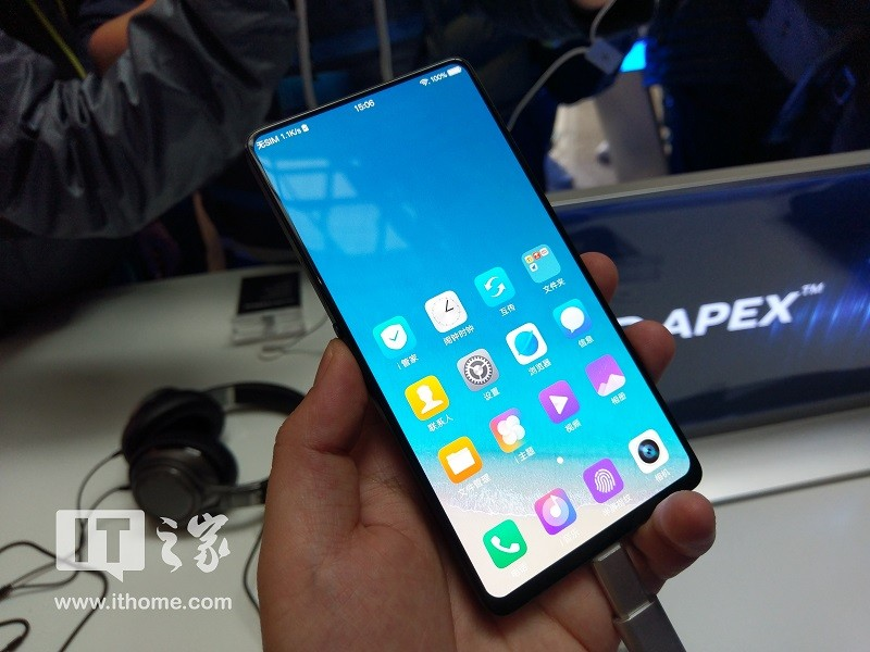 Presents a conceptual smartphone Vivo APEX