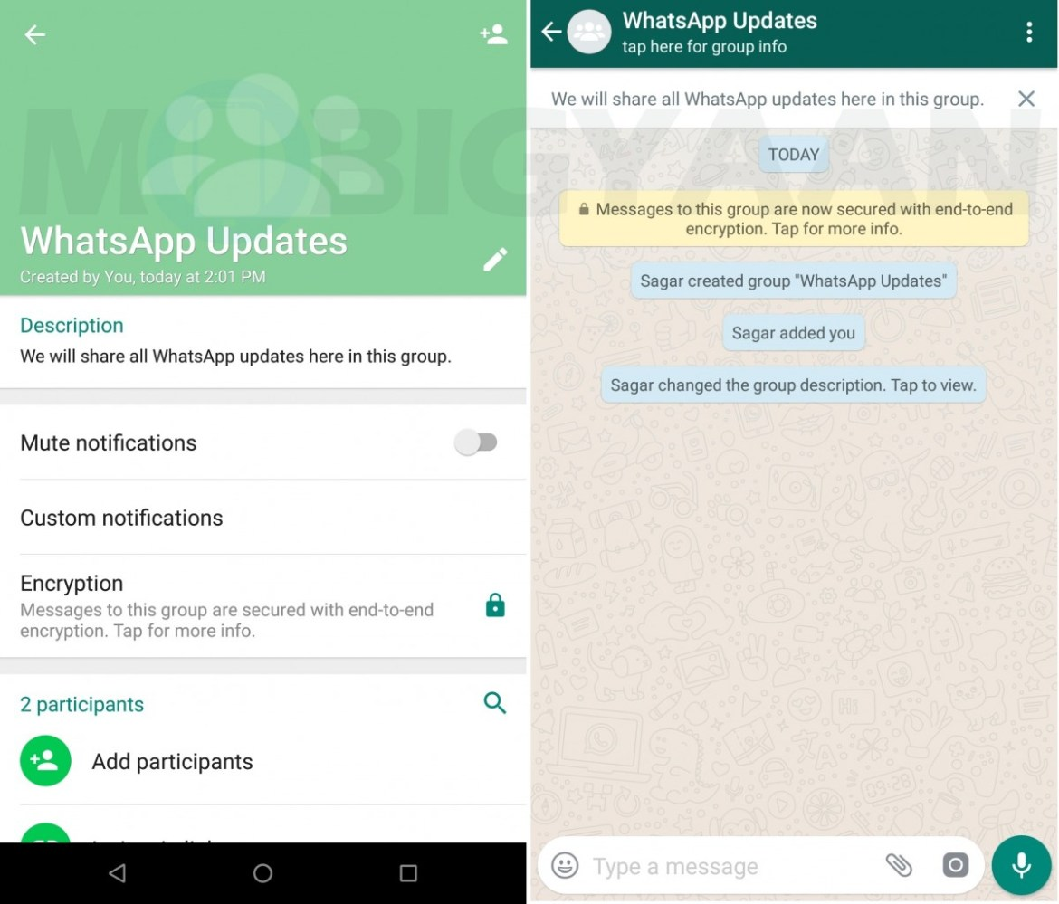 how to show notifications for a group chat on whatsapp