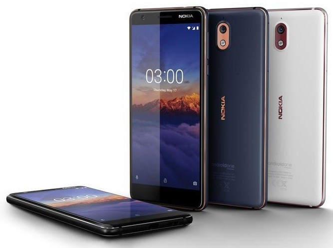Image result for Nokia 3.1 Android One Smartphone With 18:9 Display Launched in India