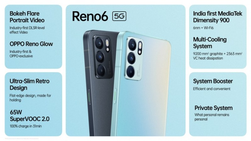 تعرف على المواصفات الكاملة لهاتف Oppo Reno6 5G
