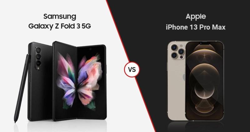 مقارنة العام أيهما أفضل Samsung Galaxy Z Fold3 أم iPhone 13 Pro Max؟