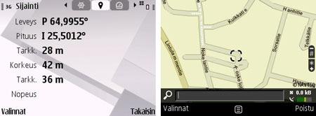 Nokia E71 GPS