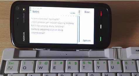 5800 XpressMusic Bluetooth-näppis