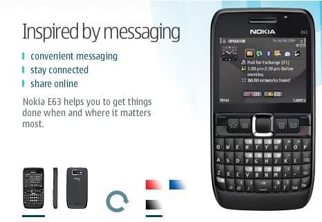 Nokia E63 musta