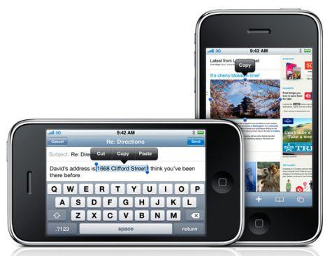 iPhone 3G S kopio-liitä-ominaisuus