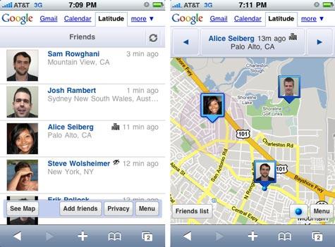 Google Latitude iPhone