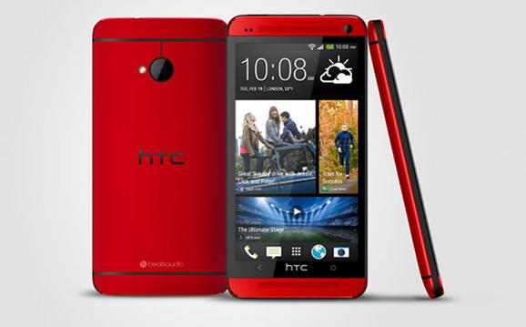 HTC One, punainen