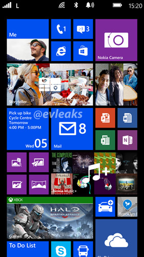 Nokia Bandit home screen