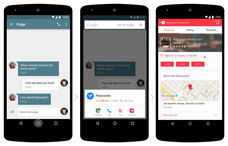Android M, Google Now
