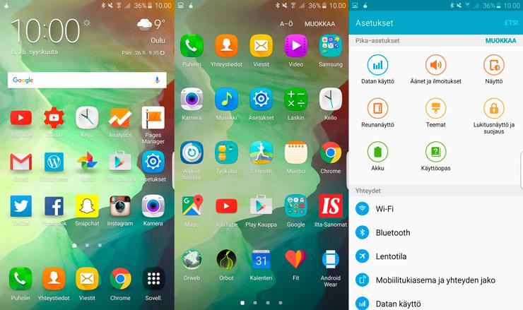 Galaxy S6 edge+ UI