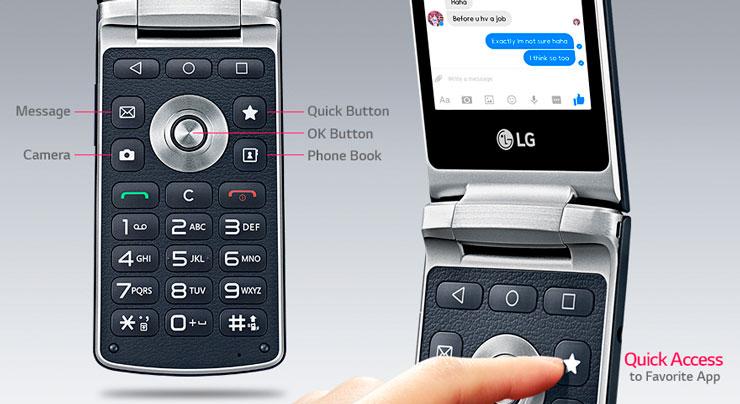 LG Easy Smart, simpukkapuhelin, Android