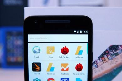 Nexus 5X. sovellusvalikko