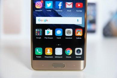 Huawei Mate 9 Pro, painikkeet.