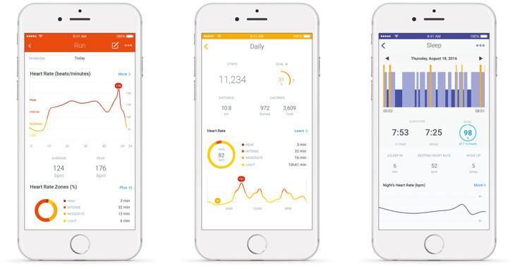 Withings Steel HR, Health app