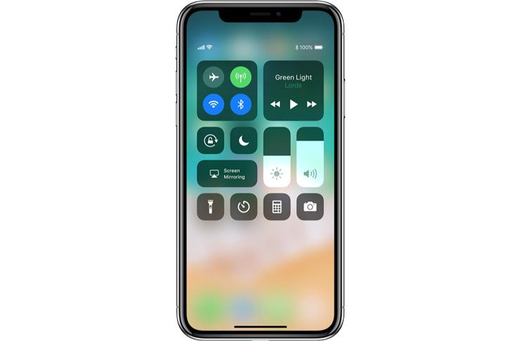 iPhone X Ohjauskeskus