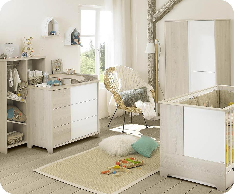 Habitacin de Beb Completa LILI Blanca y Madera