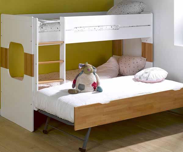 Literas de tres camas dormitorio juvenil de tus hijos
