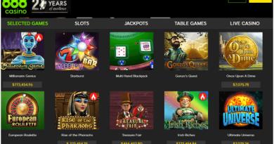 888 Kasino spel