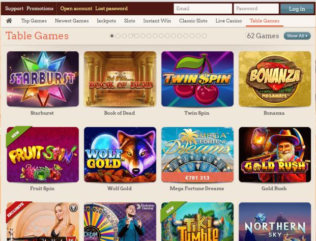 Leo Vegas Casino- Games