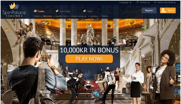 Spin Palace Kasino bonus