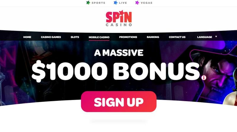Spin casino erbjuder ett riktigt stort spelutbud