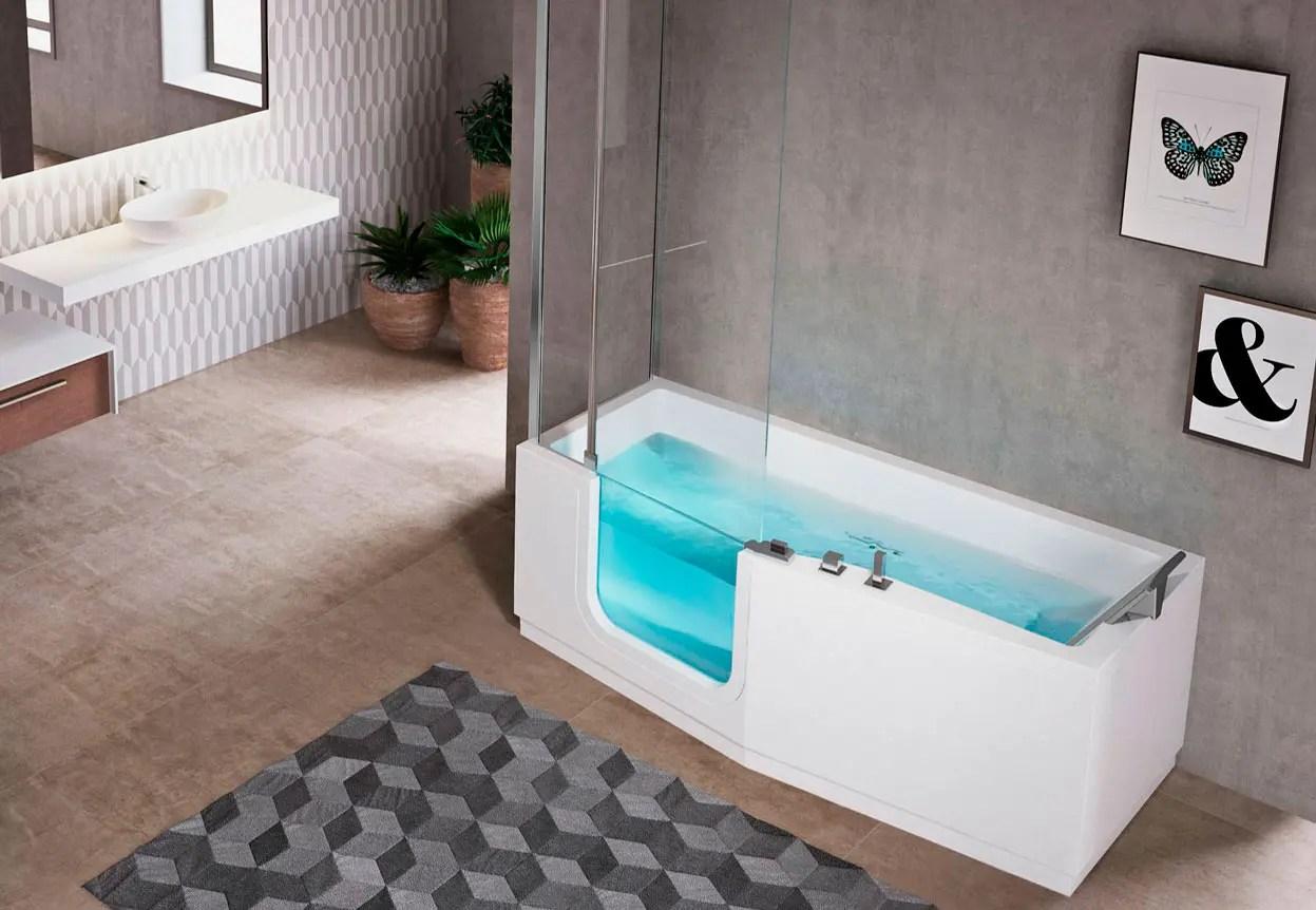 baignoire combinee douche avec porte