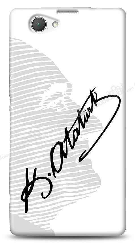 Sony Xperia Z1 Compact Atatürk Silüet İmza Kılıf
