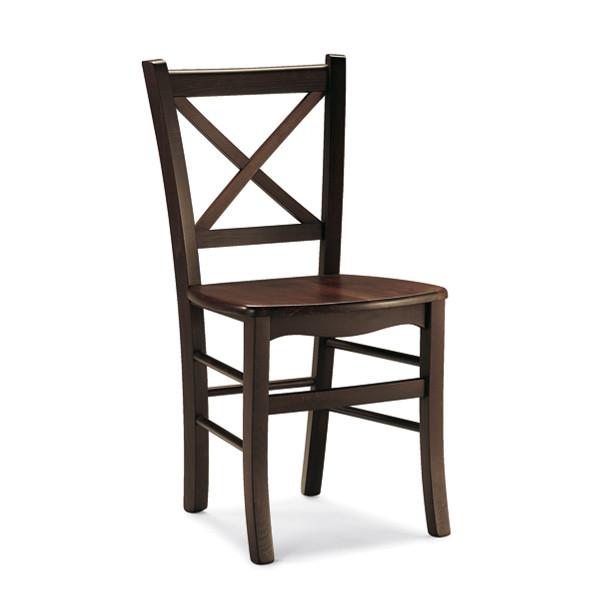 Sedia rustica in legno Atena per cucina bar ristoranti  MobilClick
