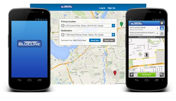 BlueLine Taxi's TaxiHail App