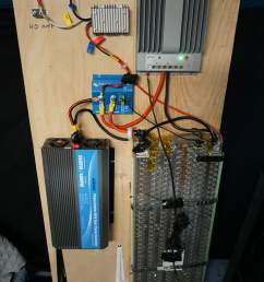 update to schematic above connect solar charge controller directly to the tesla battery fuse battery fuse shown above is covered in electrical tape but it  [ 733 x 1100 Pixel ]