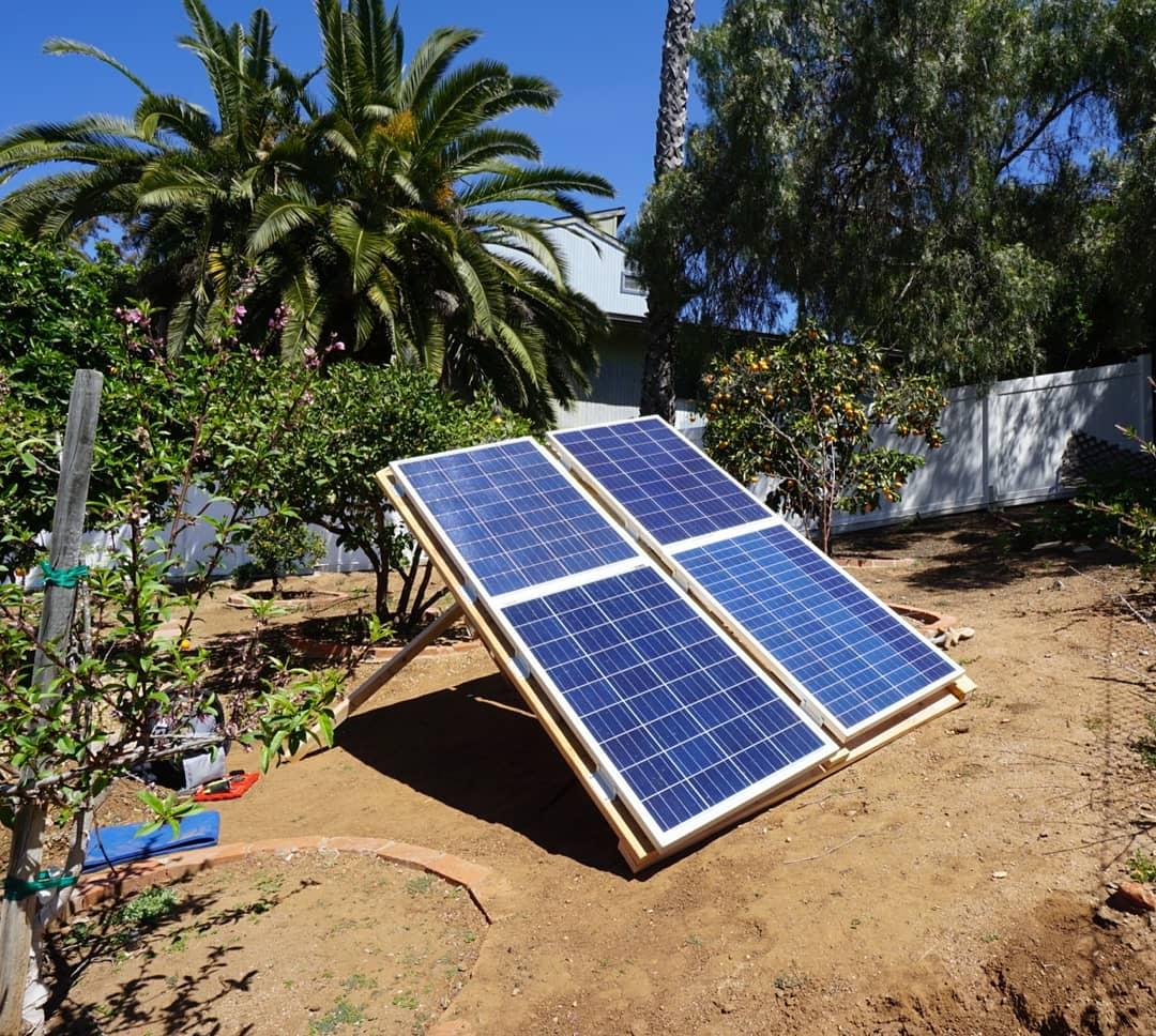 Diy Ground Mounted Solar Array Mobile Solar Power Made Easy