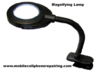 Magnifying Lamp to Repair Mobile Phone