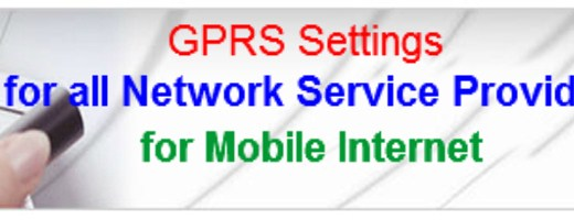 GPRS Setting for All Network Operators in India