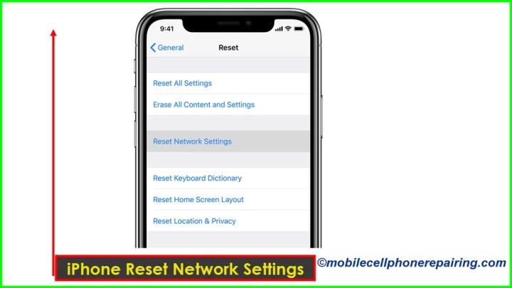 iPhone Reset Network Settings