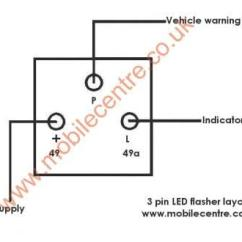 3 Pin Electronic Flasher Relay Wiring Diagram 2001 Suzuki Gsxr 750 Led Indicator 12 Volt 30w - Mobile Centre