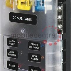 12v Cigarette Lighter Plug Wiring Diagram 1993 Honda Accord Radio Blue Sea St 5025 6 Way Blade Fuse Distribution Block Neg Bus Bar - Mobile Centre