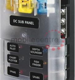 blue sea st 5025 6 way blade fuse distribution block neg bus bar mobile centre [ 800 x 1235 Pixel ]