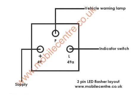 led indicator flasher relay 12 volt 3 pin 30w  mobile centre