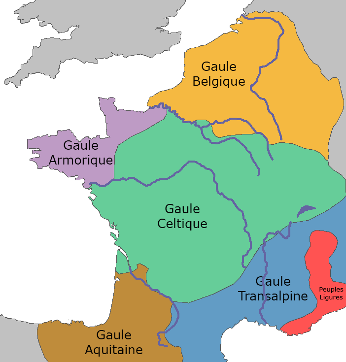Carte de la Gaule antique