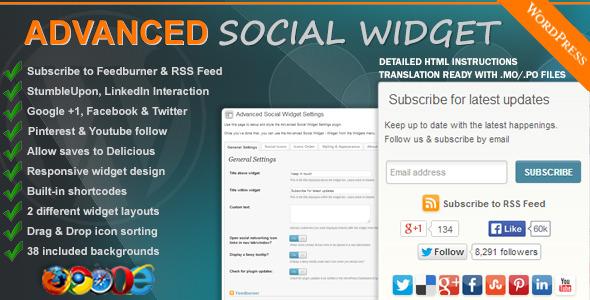 Advanced Social Widget