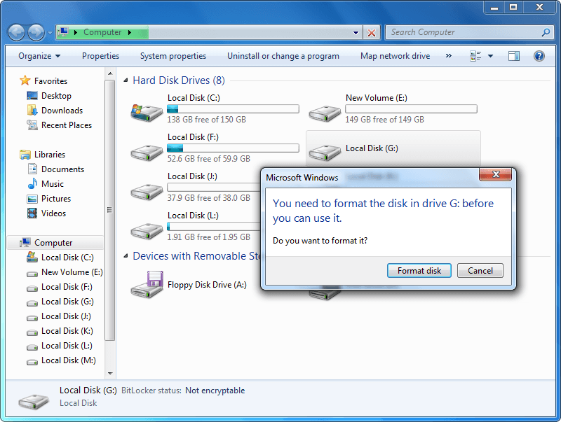 How to Fix: The Volume Does Not Contain a Recognized File System