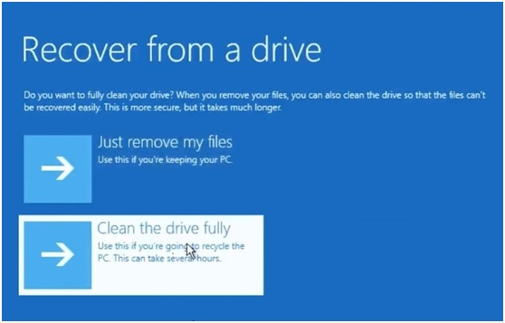 How to Factory Reset Laptop in Windows 10 8 7 - Recover from Drive