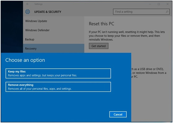 How to Factory Reset Laptop in Windows 10 8 7 - img03