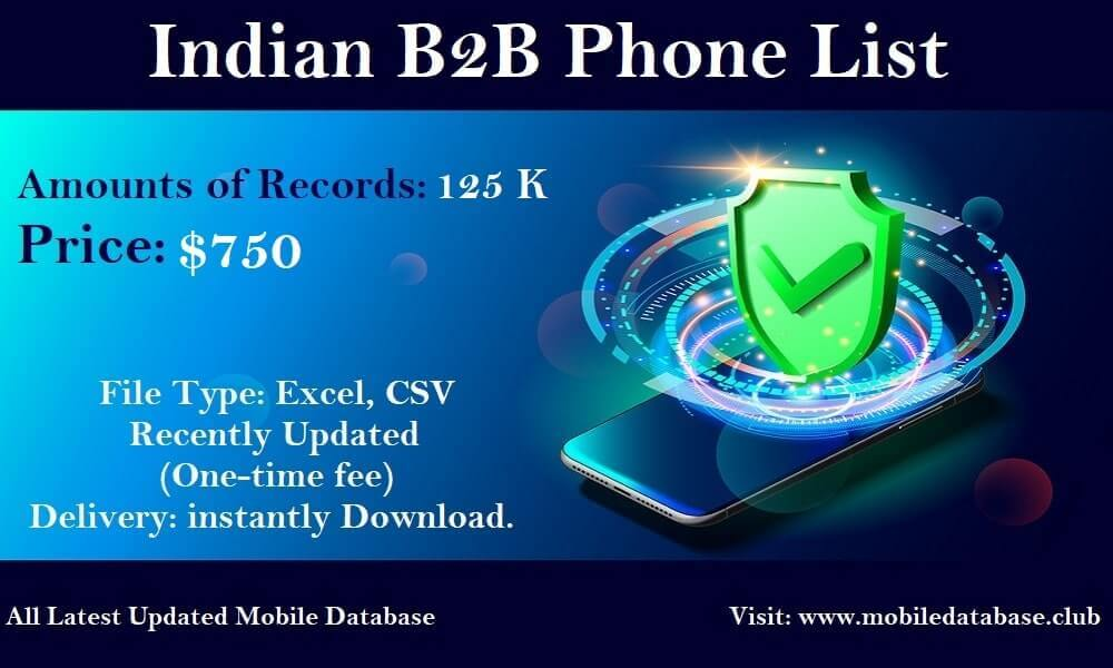 Indian B2B Phone List