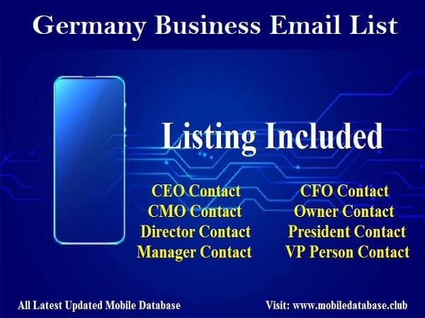 Germany Business Email List