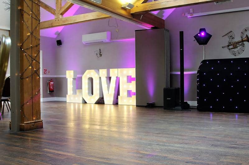chair cover hire rugeley racing stand mobile disco in birmingham package 3 the best on market sound system with up lighters and free love letters
