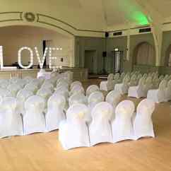 Chair Cover Hire In Birmingham Lounge Chairs Home Depot Wedding Services Venue Decoration White Covers With Sash