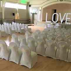 Chair Cover Hire In Birmingham Comfy Folding Wedding Services Venue Decoration White